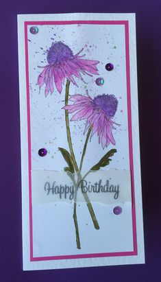 Tim Holtz flower garden, just love these stamps
