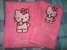 Un set di asciugamani personalizzabili! #hellokitty
