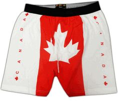 Canadian Flag Boxer Shorts, better get these for the guys for our next vacation!