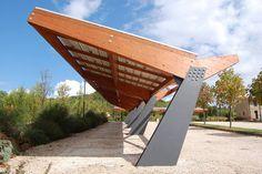 Tettoia fotovoltaica per parcheggi, Magione, 2009 - Marco Provenzano
