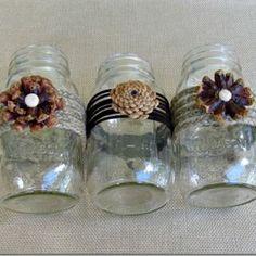 fall vase mason jar wedding