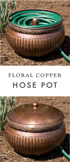 LIBERTY GARDEN PRODUCTS INC Hose Storage Pot Hammered Copper