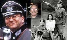 Sam Kellly, inset, was best known for playing Captain Hans Geering, left, in the 1980s BBC comedy 'Allo Allo', right