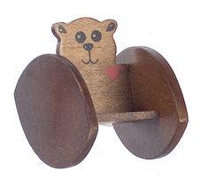Doll House Mini Bear Rocker Chair Nursery Seat Toddler 1 12 Scale | eBay