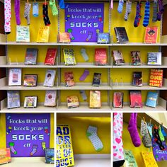 Library book display- Books that will knock your socks off!
