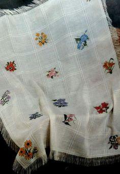 "Janlynn Flowers / Floral Afghan Counted Cross Stitch Kit 45 ""x 58"" #Janlynn #Afghan"