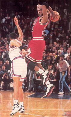 """Michael Jordan wearing """"Chicago"""" Air Jordan X"""