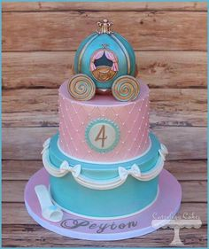 Such a sweet cake! Great for the little princess in your life!