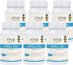 Krill Oil Supplement - Antarctic Krill Oil 1250 mg, Crill Oil Omega 3 with Astaxanthin, DHA Supplements for Joint and Brain Health, No Fishy Taste & Easy to Swallow, 360 Capsules Omega Oils, Omega 3, Krill Oil, Brain Health, Active Ingredient, Health And Beauty, Good Things, Pure Products, 100 Pure