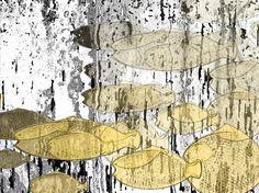 light fishes art print light colors wall decoration by aquamorina