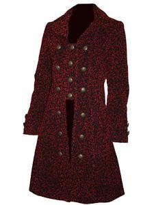 Jawbreaker (Living Dead Souls) Jacquard Embossed Highwayman / Steampunk Styled Coat from mouseyessim