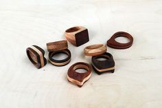 Simple Wooden Rings.