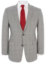 """Signature Contemporary Fit Grey Prince Of Wales Jacket from """"Austin Reed"""", Grab irresistible discounts at Austin Reed using Discount & Voucher Codes."""