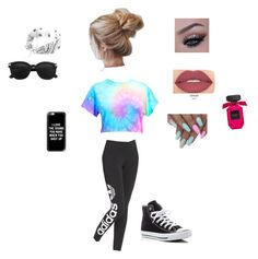 """""""Untitled #5"""" by brianna1234-i on Polyvore featuring adidas Originals, Smashbox, Casetify and Converse"""