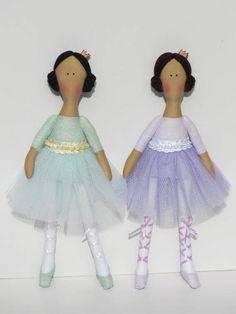 Princess doll ballerina doll rag doll pastel lilac purple