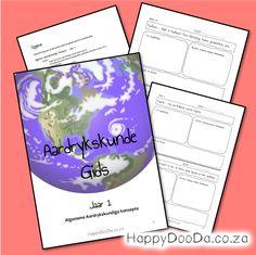 Gebruik die HDD Aardrykskunde Gids 1 om 'n jaar se aardrykskunde saam te stel volgens julle behoeftes in algemene aardrykskundige onderwerpe. Home Schooling, Hdd, Homeschool, Words, Homeschooling