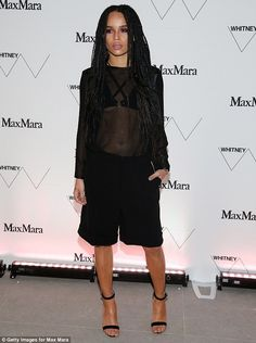 Sheer appeal: Zoe Kravitz was the essence of sultriness as she attended the Max Mara-spons...