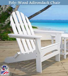 Polywood Adirondack Chair  NO rot, no painting, no bugs - $269.99  For Joe's parents