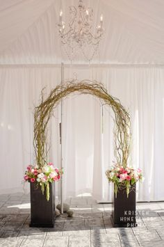 Curly willow arch by Floressence-Seattle