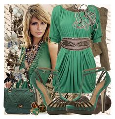 """""""Green"""" by aserdna77 ❤ liked on Polyvore featuring Mischa Barton Handbags, Miss Selfridge, Dorothy Perkins, Lanvin, Jayson Home, Lucy Hutchings and Made Her Think"""