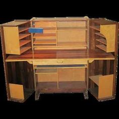 folding secretary teak desk ca 1970s products i love. Black Bedroom Furniture Sets. Home Design Ideas