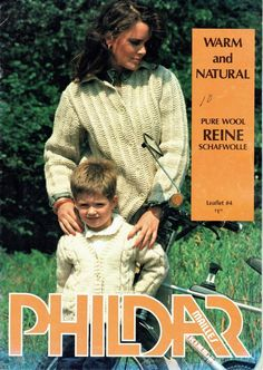 Vintage Knitting Patterns Sweaters Cardigans Shawl Collar Kids Women Men Phildar