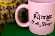 My Patronus is Molly Hooper Hand Painted Mug by abirdinthehand, $15.00