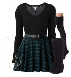 A fashion look from June 2015 featuring long sleeve jumper, tartan plaid skirt and reinforced toe socks. Browse and shop related looks. Girls Fashion Clothes, Edgy Outfits, Winter Fashion Outfits, Mode Outfits, Look Fashion, Urban Fashion Girls, Really Cute Outfits, Cute Comfy Outfits, Pretty Outfits
