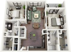 Floor Plans - Two Bedroom