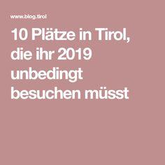 10 Plätze in Tirol, die ihr 2019 unbedingt besuchen müsst Vacation, Crown Cake