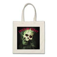 Screaming Skull Trick or Treat Tote Bag - accessories accessory gift idea stylish unique custom