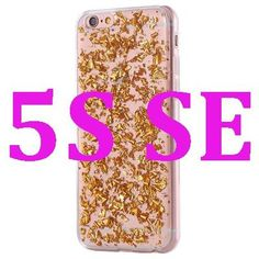 Gold Bling Paillette Sequin Skin Soft TPU Case For iPhone