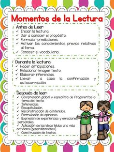 Moments Strategies and Modalities of Reading in th Dual Language Classroom, Bilingual Classroom, Bilingual Education, Spanish Classroom, Reading Strategies, Reading Activities, Reading Comprehension, Spanish Teaching Resources, Spanish Lessons