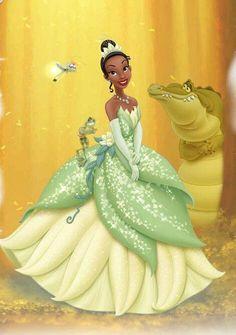 Find this Pin and more on Disney Art. Tiana Night look Walt Disney, Disney Princess Tiana, Frog Princess, Disney Magic, Disney Art, Disney Movies, Disney Characters, Princess Merida, Tangled Princess
