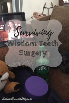 Wondering how to survive wisdom teeth surgery? I have some great tips and advice that helped me when I had my wisdom teeth taken out. I also have a weird trick for reducing swelling after your wisdom teeth surgery. Your recovery after your wisdom teeth ar Wisdom Teeth Removal Recovery, Wisdom Teeth Healing, Wisdom Teeth Aftercare, Wisdom Tooth Recovery, Wisdom Teeth Removal Swelling, Getting Wisdom Teeth Out, Food After Wisdom Teeth, Wisdom Teeth Pulled, What To Eat After Wisdom Teeth Removal
