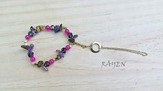 Joyas Rayen, estilo Boho.  Pieza única, pulsera y anillo. Creada por Carolina Araya.