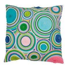 Circle Application Cushion Cover in Entertaining Colours 60x60 cm  Rice Denmark