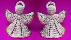 Christmas Angel how to crochet Рождественский англел вязание как связать ангела крючком