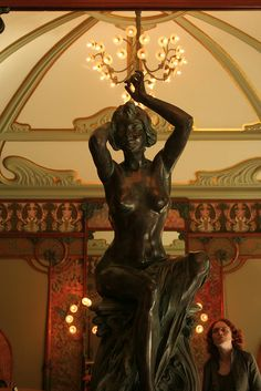 Alphonse Mucha sculpture. Beautiful.