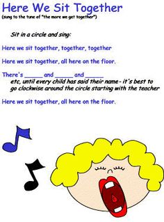 Song-Getting to know each other Great for Kindergarten and grade music classes # Songs Kindergarten Songs, Preschool Music, Teaching Music, Circle Time Songs, Circle Time Activities, Movement Activities, Circle Time Ideas For Preschool, Songs For Toddlers, Kids Songs