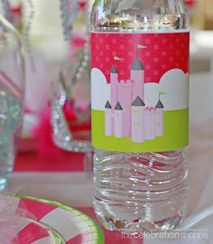 Princess Party BEVERAGE BOTTLE WRAPPER  The by CelebrationShoppe, $4.50