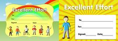 Download our twin pack of 'Excellent Effort' certificates. www.teachingessentials.co.uk/store.html