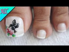 DISEÑO DE UÑAS PARA PIES COLIBRÍ Y ROSAS - ROSES NAIL ART - NLC - YouTube Summer Toe Nails, Toe Nail Art, Gel Nails, Pedicures, Candy, Beauty, Youtube, Nail Art Designs, Nail Ideas