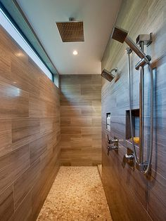 Modern contempory master bathroom  shower Sprawling rancher style residence in Vancouver