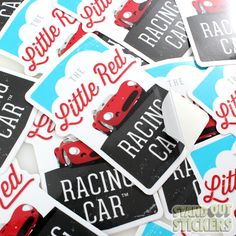 THE LITTLE RED RACING CAR CUSTOM DIE CUT VINYL STICKERS