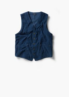 Chaleco algodón bolsillos | MANGO MAN
