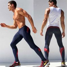 Best Quality Wholesale Mens Sport Long Sexy Tight Pants Gym Fashion Full Length Pants Penis Men Male Harem Trousers Casual Pencil Sweatpants Stretch At Cheap Price, Online Pants Mens Running Tights, Sport Tights, Mens Tights, Sports Leggings, Running Leggings, Gym Leggings, Black Leggings, Mode Masculine, Gym Outfits
