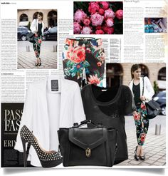 """""""Street Style - Floral"""" by lidia-solymosi on Polyvore"""