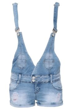 Cozmoo`s Distressed Denim Pinafore