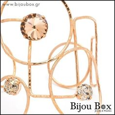 Bijou Box, Bangle Bracelets, Bangles, Bronze Jewelry, Rose Gold Plates, Round Glass, Stone, Glasses, Watches